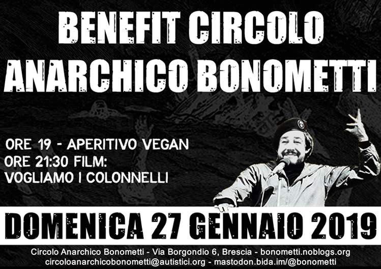 benefit circolo anarchico Bonometti