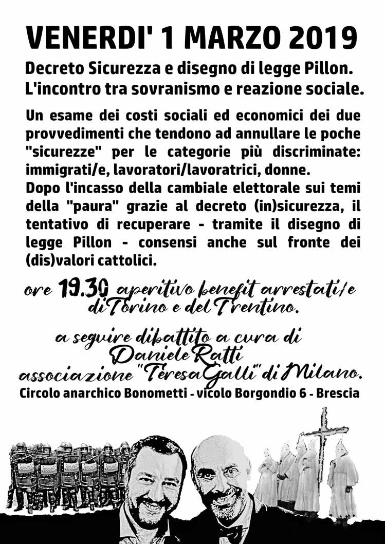 Decreto Sicurezza e disegno legge Pillon